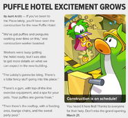 Puffle Hotel Excitement