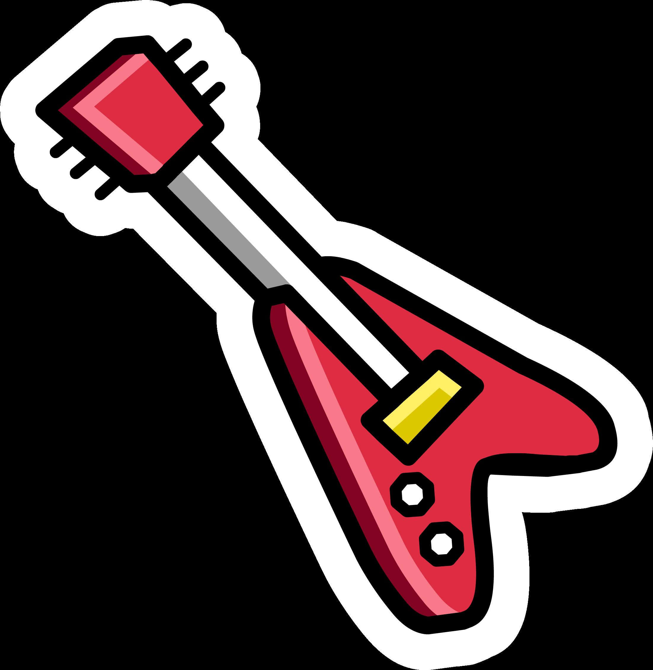 Red Electric Guitar Pin