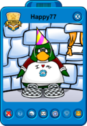 Happy77 Player Card Puffle Party 2013