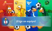Interfaz de la Copa Club Penguin elegir equipos