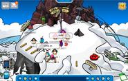 Mountain on ski hill