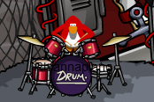 My penguin(rhiannapiano) playing drums