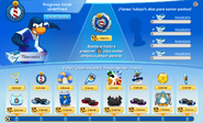 Interfaz de la Copa Club Penguin tiburones