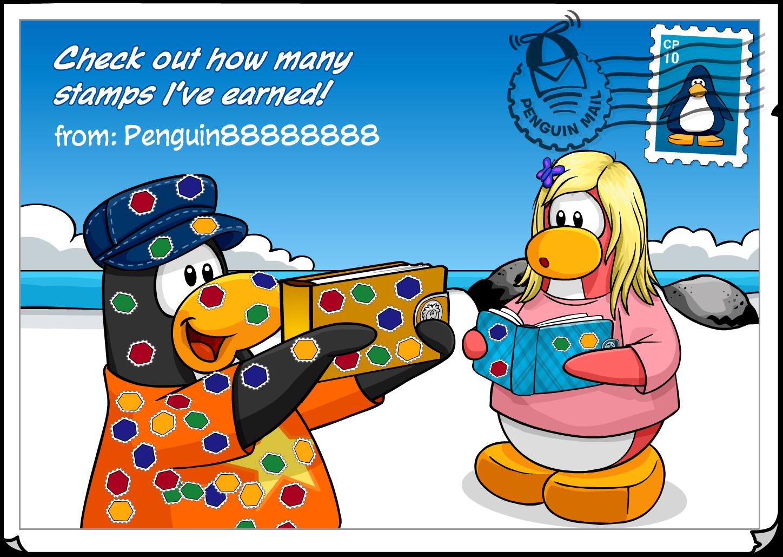 image my stamp book postcard png club penguin wiki fandom