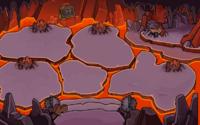 Dentro del volcan
