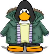 Green Parka on a Player Card