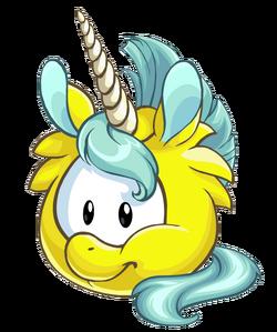 Puffle Unicornio Amarillo