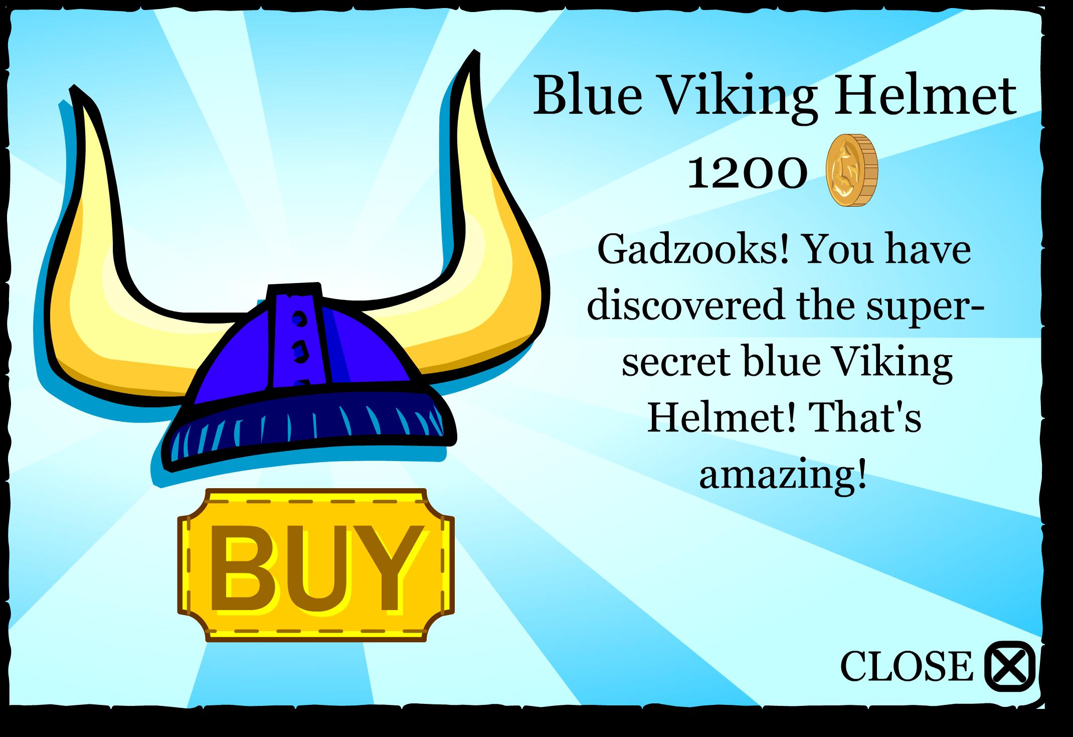 Blue Viking Helmet Logo