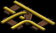 Gold Railroad Intersection sprite 004