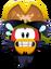 Emoticón de Rockhopper asustado