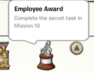 Employee award stamp book