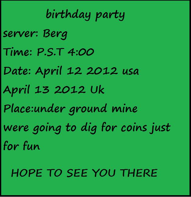 My bday invitation