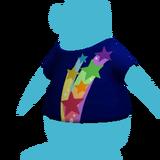 Camiseta estrella arcoíris Icono