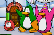 Penguin wearing Party Hats