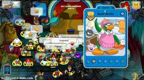 Clubpenguin meeting Aunt Arctic Hollywood Party 2013