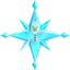 Collectible crystal snowflake