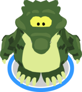 Crock Costume in-game