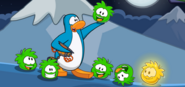 Green puffle saved