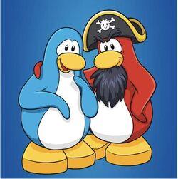 Rockhopper with a penguin