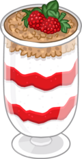 Yogurt Parfait Puffle Food