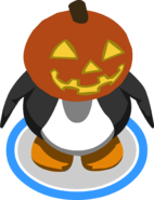 Glowing Pumpkin Head ingame