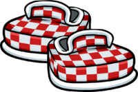 Zapatos a Cuadros Rojos icono
