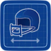 Blueprint Quarterback Helmet icon