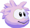 Pink puffle 3d icon
