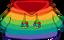 Rainbow O'berry Hoodie icono