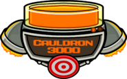 Cauldron 3000 filled