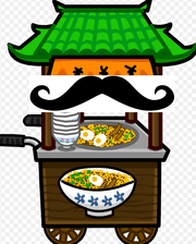 NOODLE STAND WITH A MUSTACHE