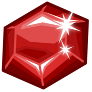Shiny red ruby