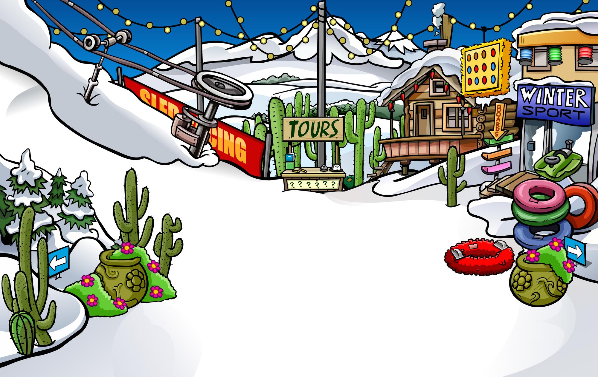 Image result for winter fiesta club penguin ski village