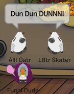 Alli Gatr con L8tr Skater (disfrazados de ovejas): ¡TAN, TAN, TAAAAN!