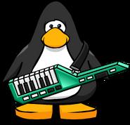 Green Keytar from a Player Card