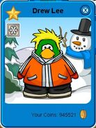 A b c winter penguin