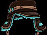 Brown Teal Cap