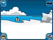 Iceberg sailboat