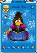 Tarjeta de Jugador de Catlady Meow (durante el Frozen: Una Fiesta Congelada)