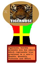 Tigernoseaward