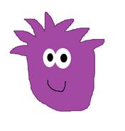 Purple puffle drawing