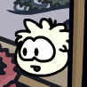 White puffle in pet shop