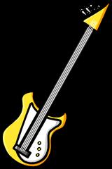 Yellow Bass Guitar