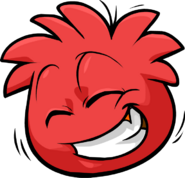 Red Puffle Laughing