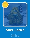 Sher Locke desconectada en la Lista de Amigos