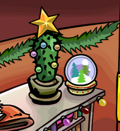 Holiday Party 2011 snowglobe decoration 1