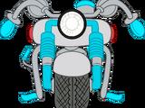 Motocicleta Celeste