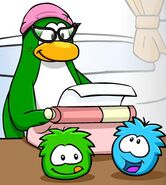 Aunt Arctic and her puffle