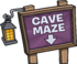 Cave Maze sign