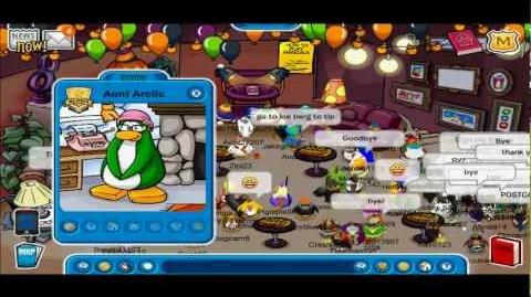 Club Penguin Meeting Aunt Arctic At 6th Anniversary Party 2011